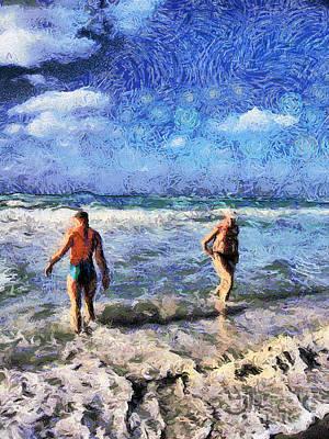 The Beach Art Print by Odon Czintos
