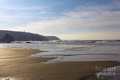 Photograph - The Beach Porthtowan by Brian Roscorla