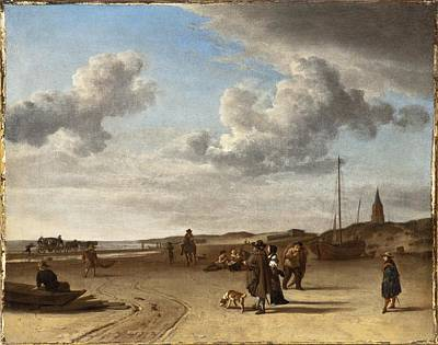 Scheveningen Painting - The Beach Scheveningen by Celestial Images