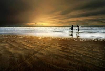 Beach Action Wall Art - Photograph - The Beach by Sol Marrades