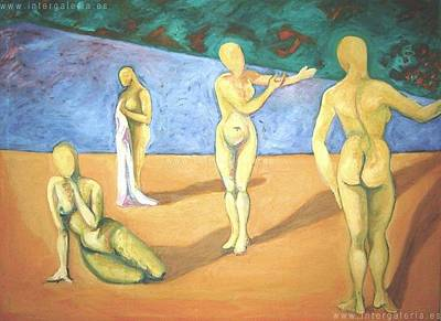 Painting -  Tribute To Paul Gauguin by Raquel Sarangello