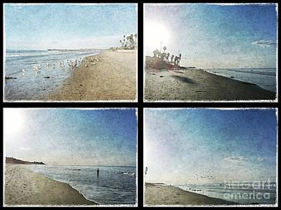 The Beaches Of San Clemente Collage Art Print by Traci Lehman