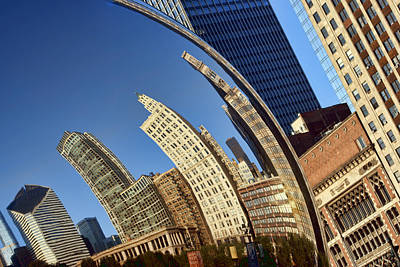 Polished Steel Photograph - The Bean - 1 - Cloud Gate - Chicago by Nikolyn McDonald