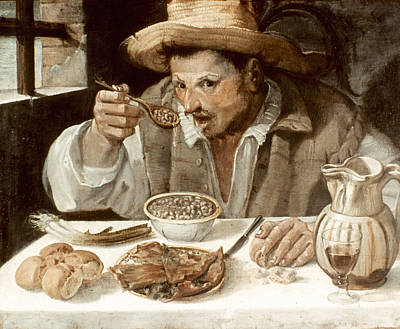 Pitcher Painting - The Bean-eater by Granger