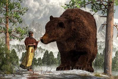 Digital Art - The Bear Woman by Daniel Eskridge