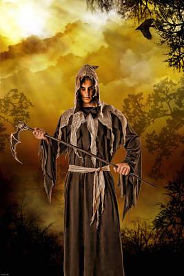 Fantasy Tree Mixed Media - The Bearer Of Bad News by Tyler Robbins