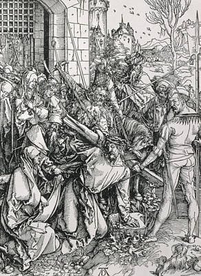 Fell Painting - The Bearing Of The Cross From The 'great Passion' Series by Albrecht Duerer