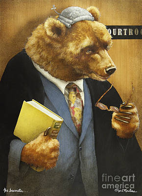 Barrister Painting - The Bearrister... by Will Bullas