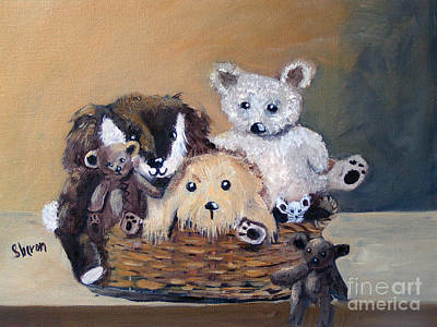 Painting - The Bears Are Back In Town by Sharon Burger
