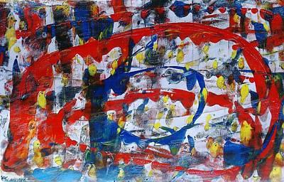 Chaos Maze Painting - The Beastial Path by Karunita Kapoor