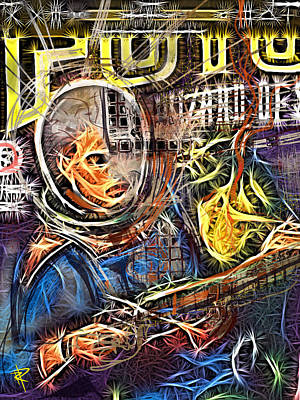 Science Fiction Mixed Media - The Beating Heart by Russell Pierce