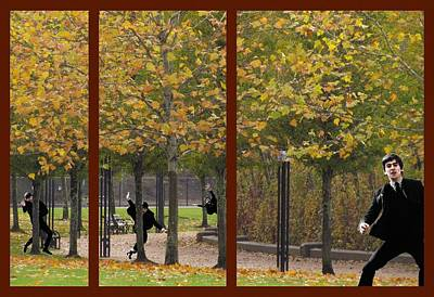 Photograph - The Beatles ..... Hide And Seek Triptych by I'ina Van Lawick