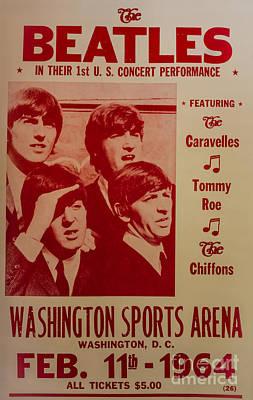 The Beatles 1st U.s. Concert Art Print by Mitch Shindelbower