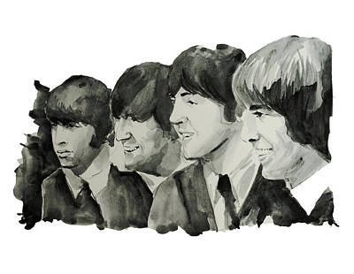 John Lennon Painting - The Beatles 2 by Bekim Art