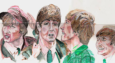 The Beatles 3 Art Print by David Garren