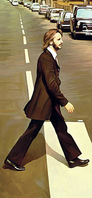 Mccartney Painting - The Beatles Abbey Road Artwork Part 3 Of 4 by Sheraz A