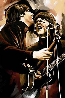 The Beatles Art Painting - The Beatles Artwork 2 by Sheraz A