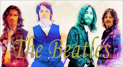 The Beatles Art Print by Barbara Chichester