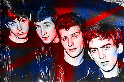 The Beatles Before Ringo Pete Best Painting Art Print by Marvin Blaine