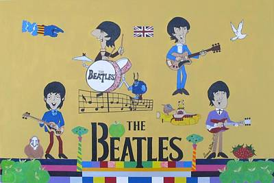 Ringo Painting - The Beatles Yellow Submarine Concert by Donna Wilson