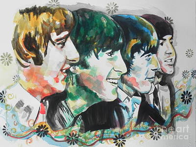 Painting - The Beatles 01 by Chrisann Ellis