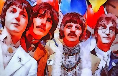 Lennon Mixed Media - The Beatles by Dan Sproul
