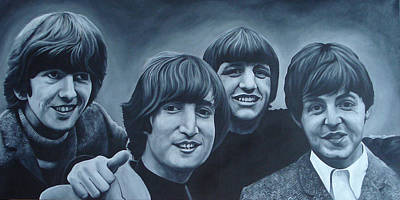John Lennon Painting - The Beatles by David Dunne
