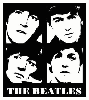 Fab Four Digital Art - The Beatles by David G Paul