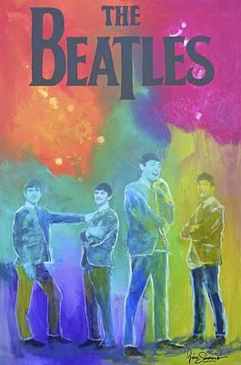 The Beatles Art Print by Gino Savarino