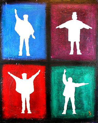 Painting - The Beatles Help Pop Art by Bob Baker