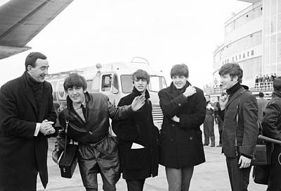 Irish Rock Band Photograph - The Beatles In Dublin by Irish Photo Archive