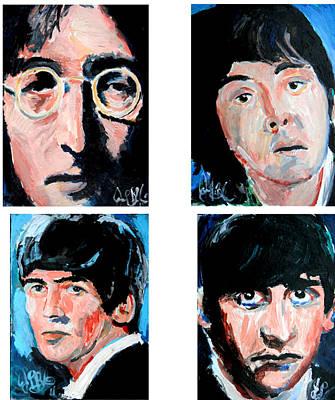 Painting - The Beatles  by Jon Baldwin  Art