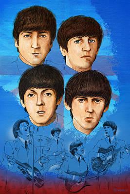 The Beatles Montage One Print by Joe Winkler