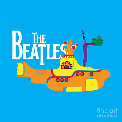 Line Digital Art - The Beatles No.11 by Caio Caldas