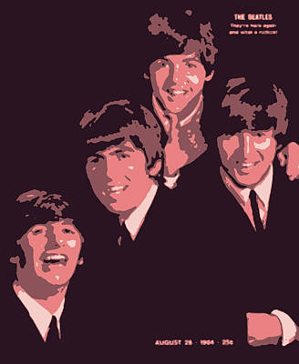 Kitchen Mark Rogan Rights Managed Images - The Beatles on the cover of Life Magazine 1964 Royalty-Free Image by Del Gaizo