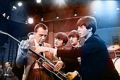 The Beatles On The Ed Sullivan Show Art Print by Marvin Blaine