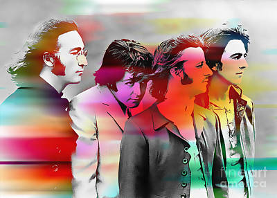 The Beatles Painting Print by Marvin Blaine