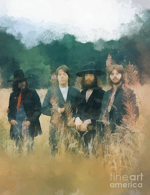 The Beatles Art Print by Paulette B Wright
