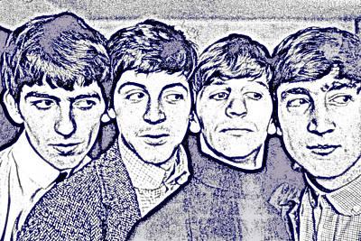 Idols Photograph - The Beatles by VRL Art