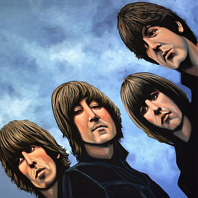 Band Painting - The Beatles Rubber Soul by Paul Meijering