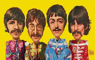 Digital Art - The Beatles by Scott Ross