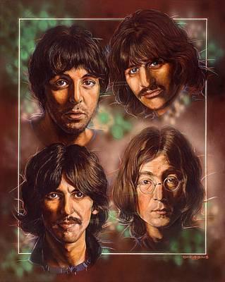 The Beatles Art Print by Tim  Scoggins