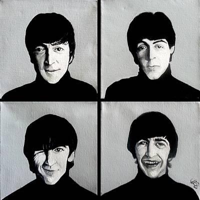 The Beatles Art Print by Tom Carlton