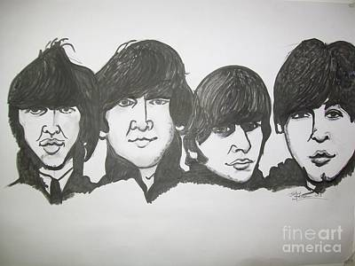 Acquired Painting - The Beatles Were An English Rock Band That Formed In Liverpool by John Fitzsimon