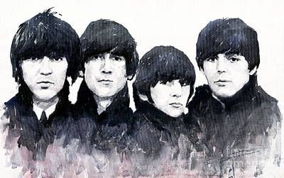 Watercolour Painting - The Beatles by Yuriy  Shevchuk