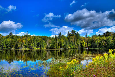 Hdr Photograph - The Beautiful Lake Abanakee by David Patterson