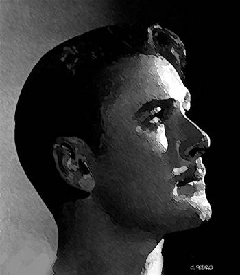 Painting - the Beautiful Man by George Pedro