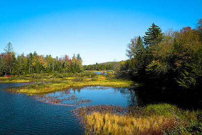 Adirondack Photograph - The Beautiful Moose River In Old Forge New York by David Patterson