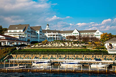The Beautiful Sagamore Hotel On Lake George II Art Print by David Patterson