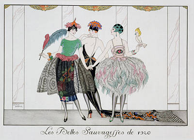 Evening Dress Painting - The Beautiful Savages by Georges Barbier